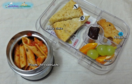 Pasta Arrabbiata Bento Lunch Box