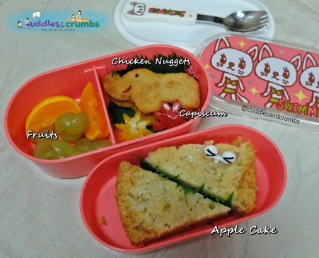 Apple Cake Bento Lunch Menu