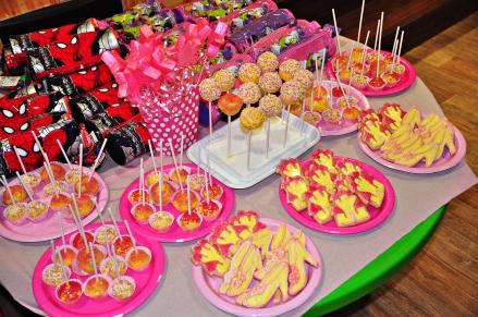 princess tiara dessert party spread