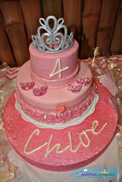 Princess Pink Tiara Cake