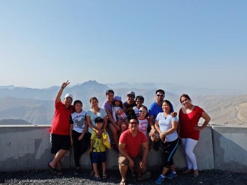 Filipino bloggers at Jebel Jais Mountain