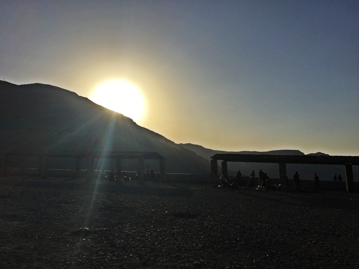 Sunrise at Jebel Jais Mountain