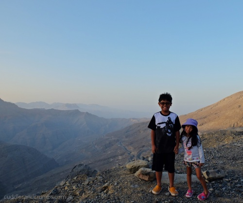 Kids at Jebel Jais Mountain