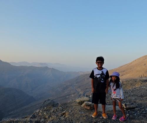 Kids at Jebel Jais Mountain