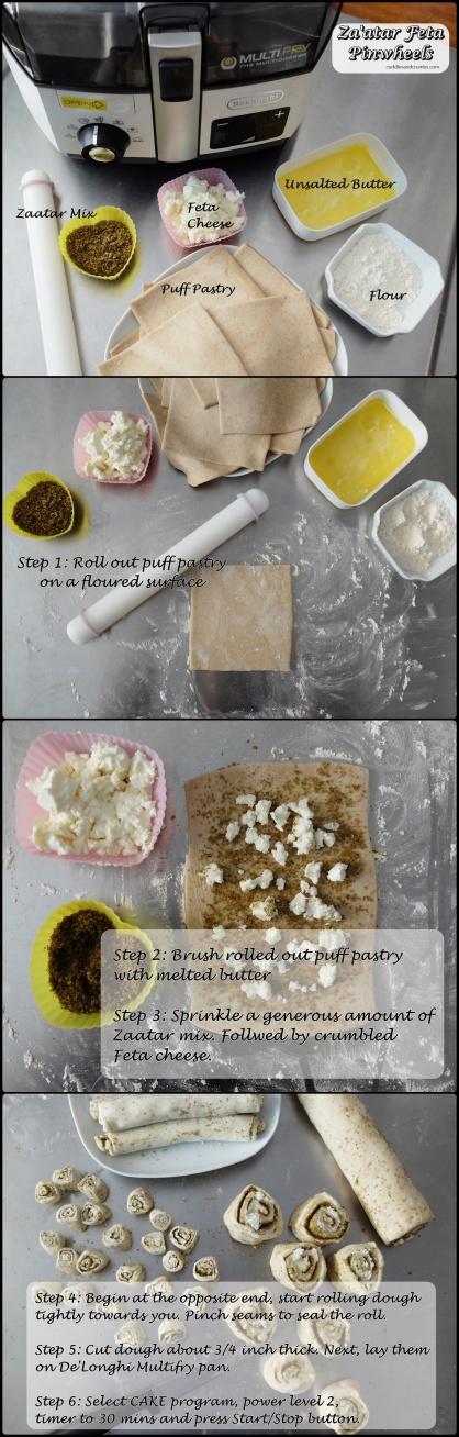 Zaatar Feta Pinwheels Recipe