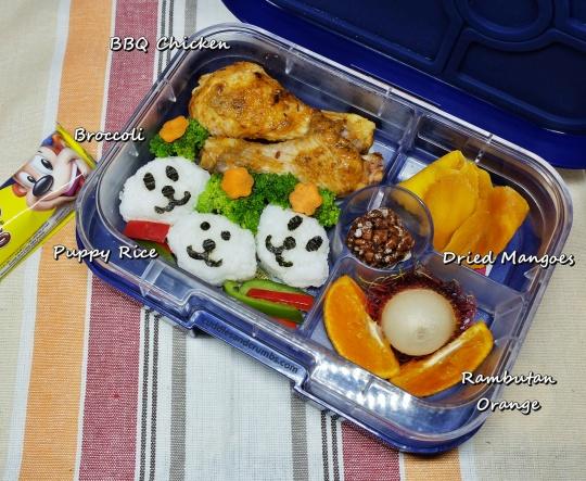 1009-bbqchicken-puppy-rice-bento-lunch
