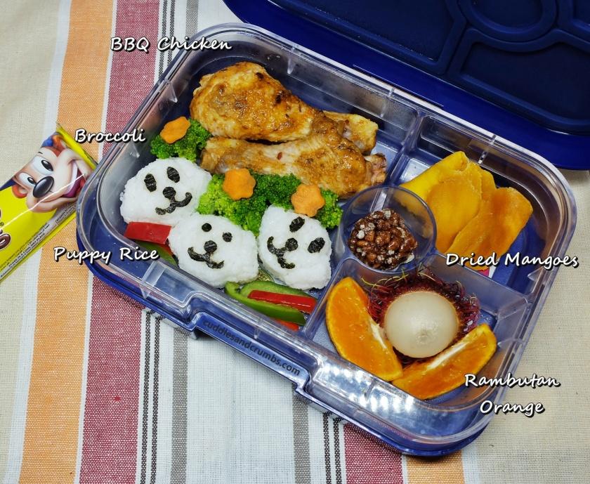 bbq chicken dog bento lunchbox