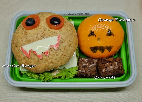 monster burger bento lunchbox