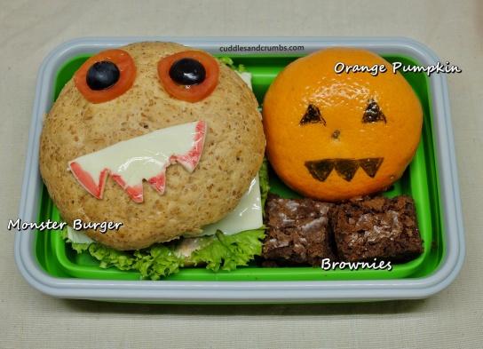 monster burger bento lunchbox