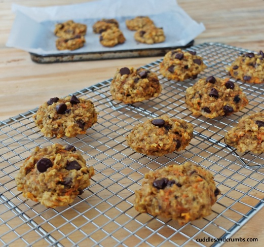 Carrot Apple Oat Cookies