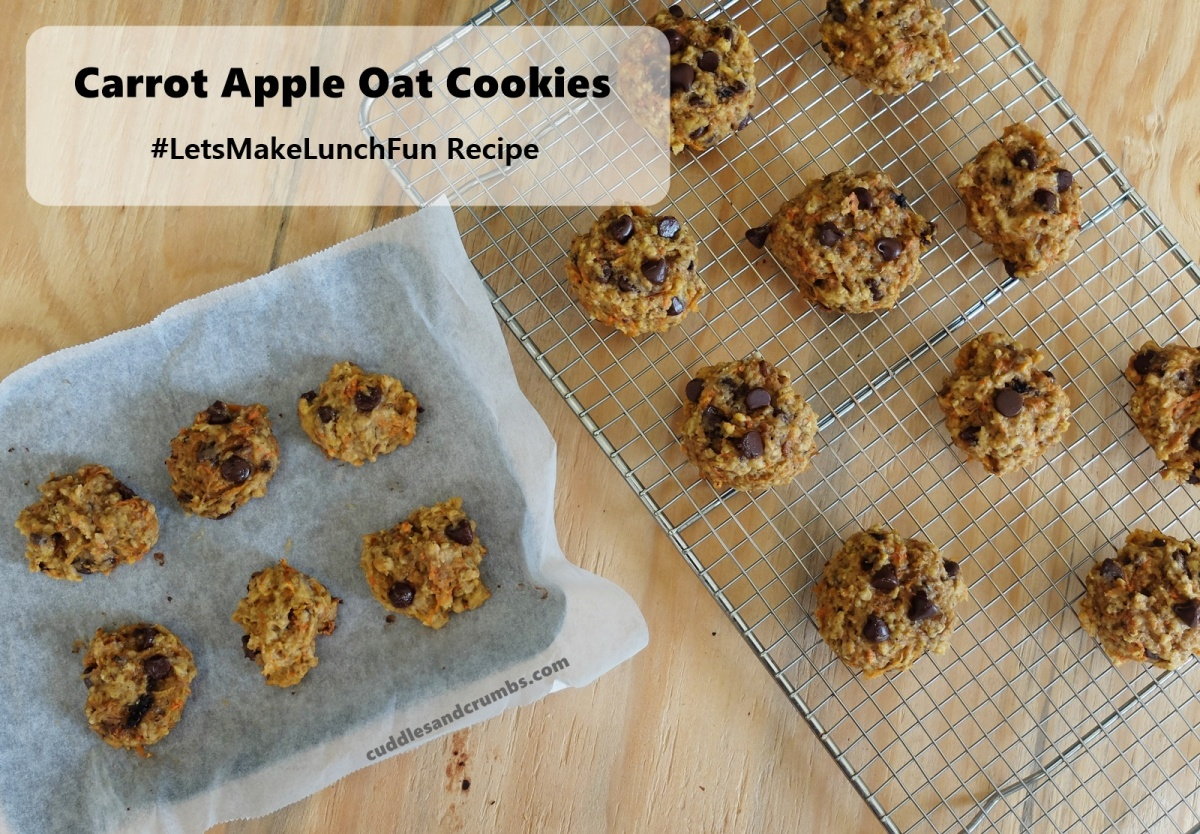 Lunch Box Recipe: Carrot and Apple Oat Cookies
