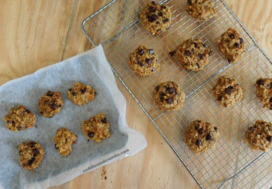 Carrot Apple Chocolate Chip Cookies