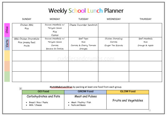 weekly-bento-lunch-box-menu-october-9-13