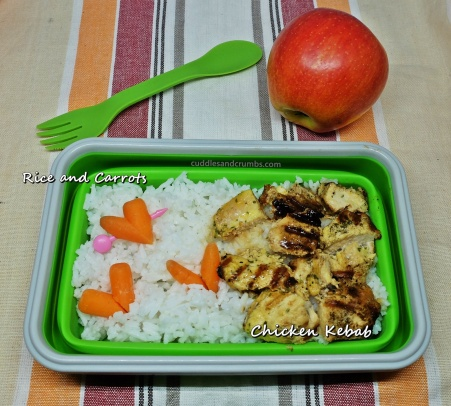 lunchbox chicken kebab