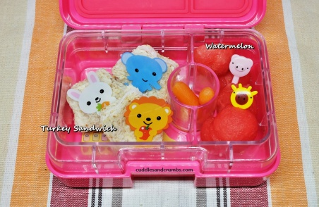 turkey sandwich bento lunchbox