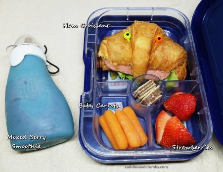 ham croissant lunch box yumbox