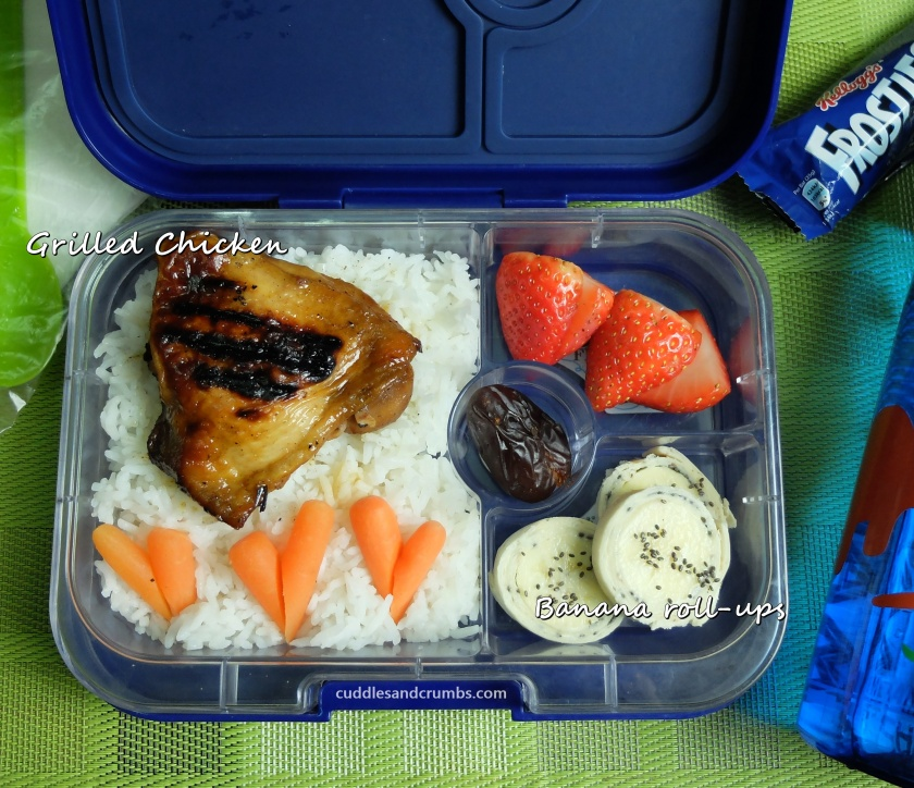 barbecue chicken bento lunch box
