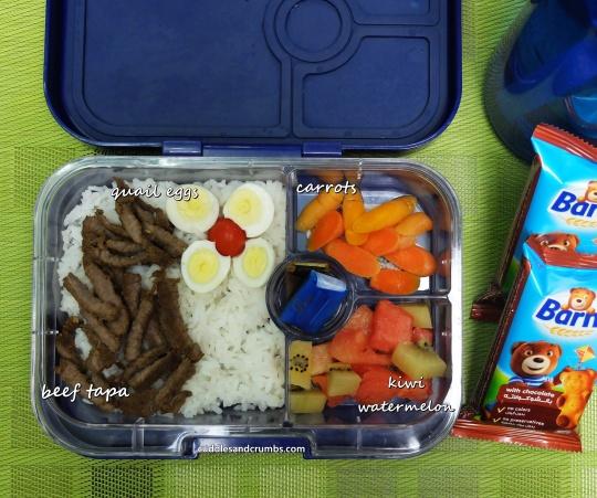 beef tapa bento lunchbox
