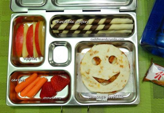 sausage tortilla bento lunchbox