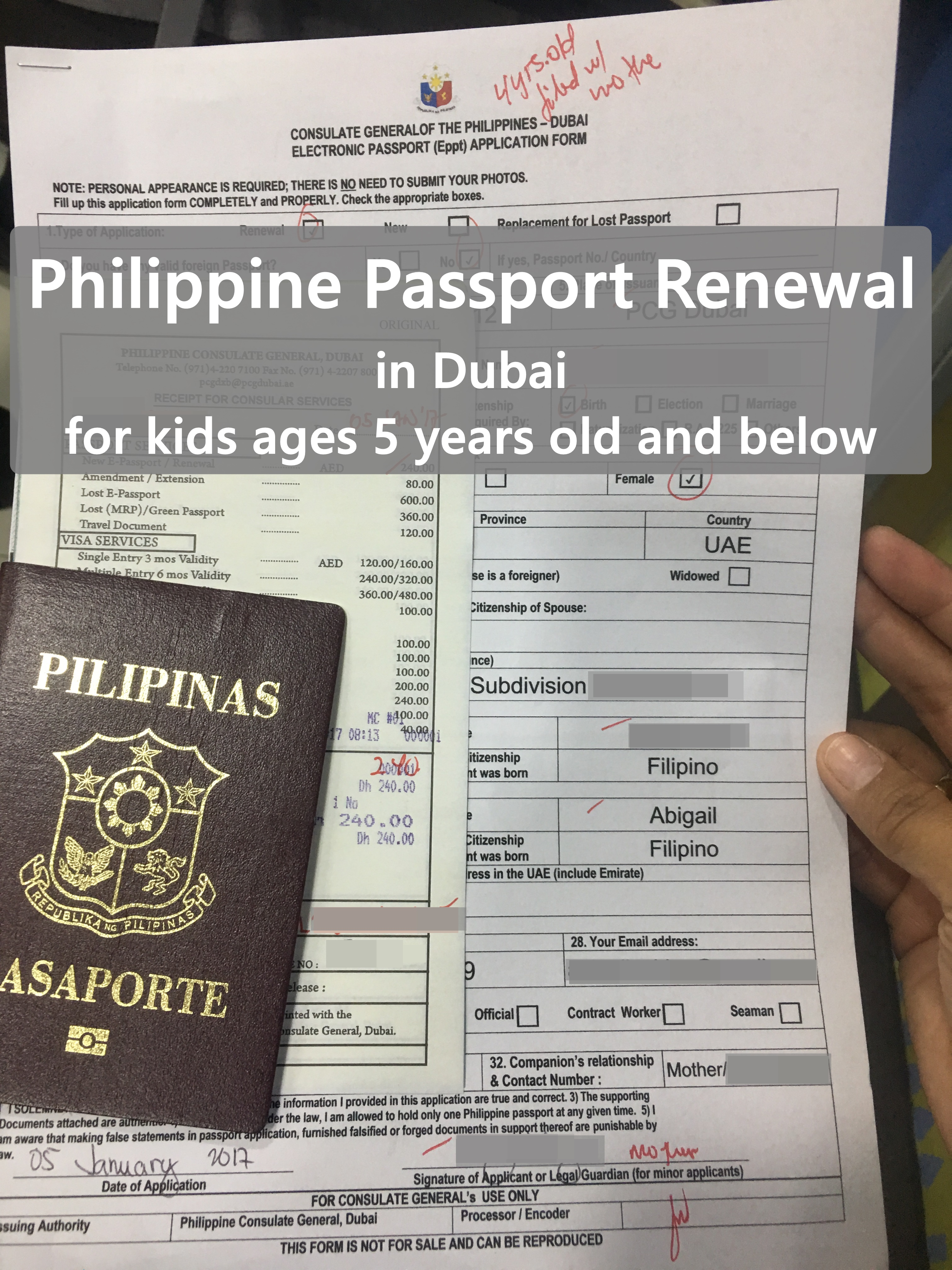 Philippine Passport Renewal in Dubai for Kids | Cuddles and Crumbs