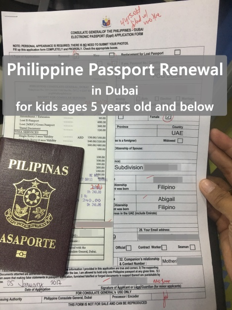Philippine Passport Renewal In Dubai For Kids Cuddles And Crumbs