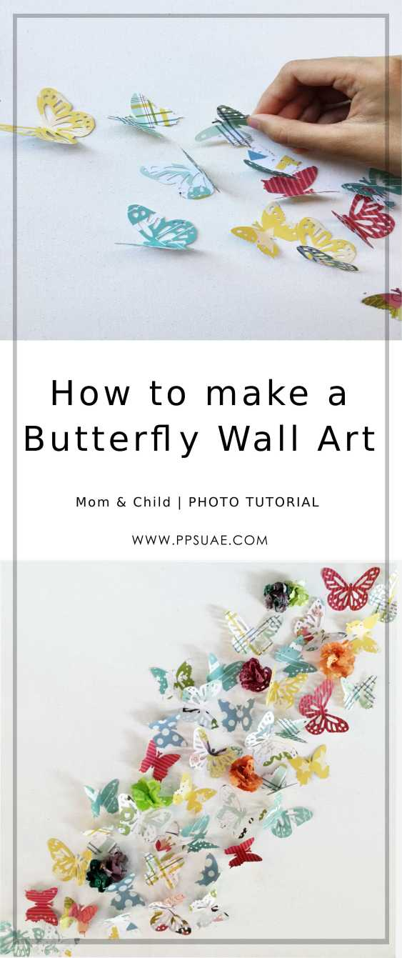 DIY Butterfly Wall Art
