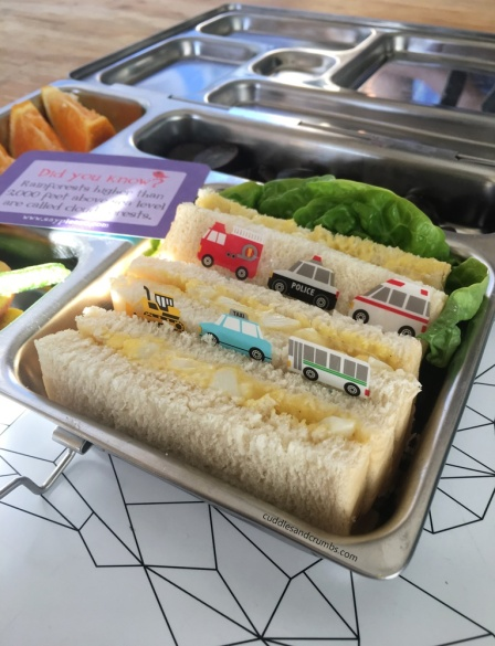 egg sandwich lunch box