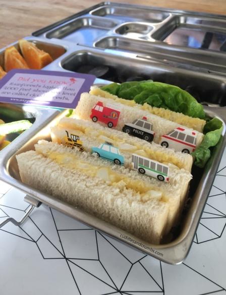 egg sandwich lunch box