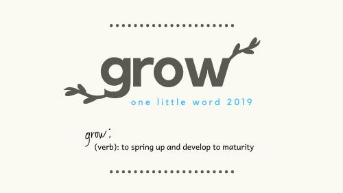 one little word grow illustration