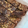 Brownies with Dark Chocolate Walnuts